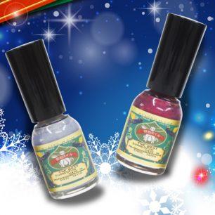 用御燈明與淡雪替指尖換裝♡ 胡粉指甲油2018聖誕限定色系組