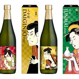 9月2日新上市☆老字號『白鶴酒造』3款「浮世繪酒標」系列商品